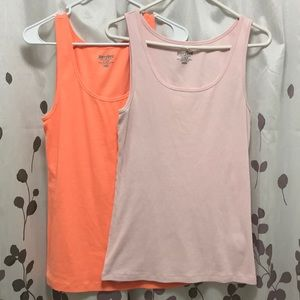 TWO Old Navy ribbed tank tops